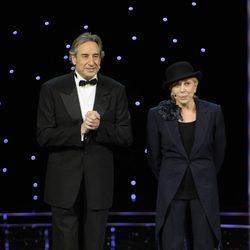 Juanjo Puigcorbé y Rosa María Sardá, en los Goya 2011
