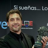 Javier Bardem muestra su quinto Goya