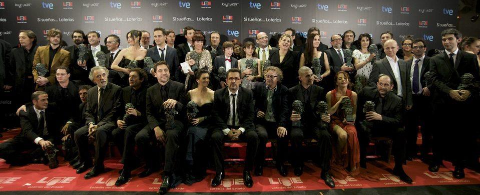 'Foto de familia' de los ganadores de los Goya 2011
