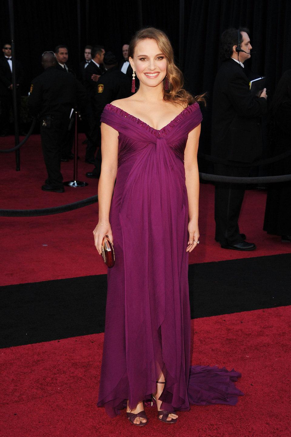 Natalie Portman llega a los Oscar 2011