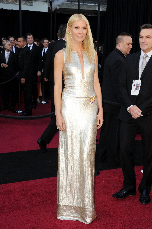 Gwyneth Paltrow posa en los Oscar 2011