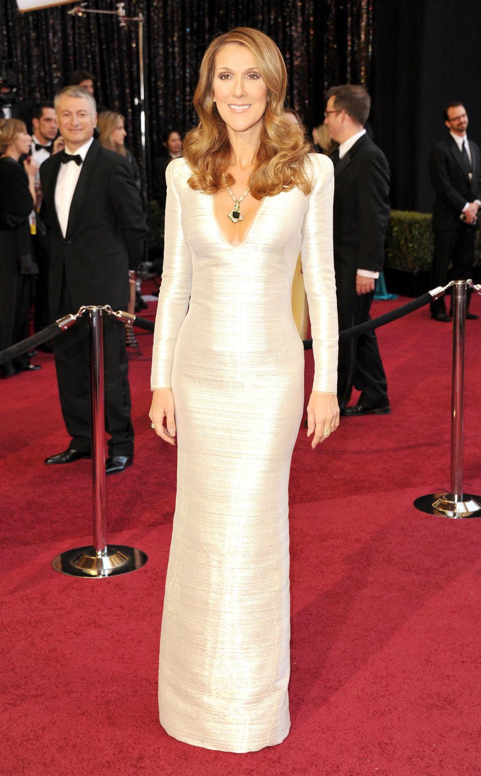 Celine Dion cantó en la gala de los Oscar 2011