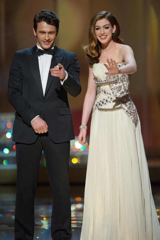 James Franco y Anne Hathaway en los Oscar 2011