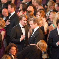 Tom Hooper y Colin Firth charlan en los Oscar 2011