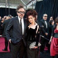 Tim Burton y Helena Bonham Carter en los Oscar 2011