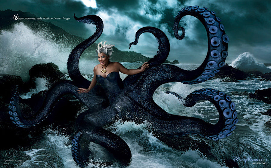 Queen Latifah como 'La Sirenita'