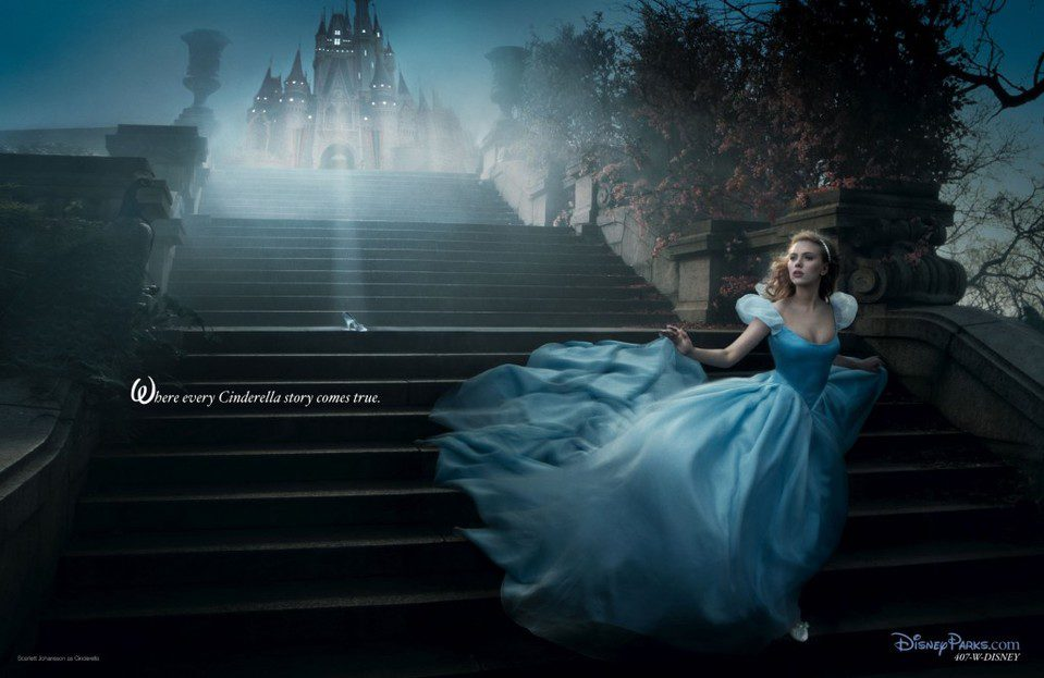 Scarlett Johansson como 'Cenicienta'