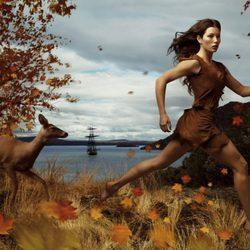 Jessica Biel como 'Pocahontas'