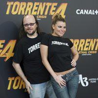 Santiago Segura y María Lapiedra en la rueda de prensa de 'Torrente 4'