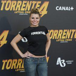 María Lapiedra en la rueda de prensa de 'Torrente 4'