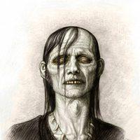 Concept art de un zombie de 'Piratas del Caribe: En mareas misteriosas'