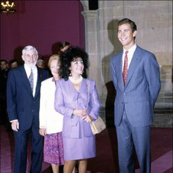 Liz Taylor con el Príncipe Felipe
