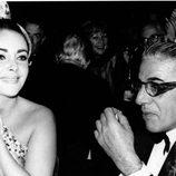 Elizabeth Taylor con Aristotle Onasis