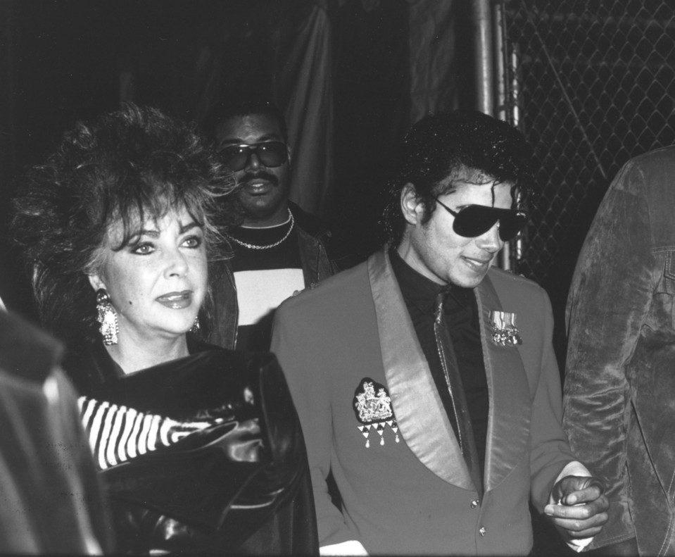 Elizabeth Taylor con Michael Jackson