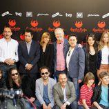Reparto de 'Águila Roja' en la rueda de prensa de la película