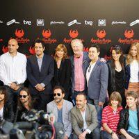 Equipo de 'Águila Roja' en el photocall para la prensa