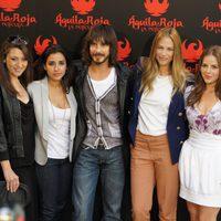 Pepa Aniorte, Inma Cuesta, David Janer, Martina Klein y Miryam Gallego, de 'Águila Roja, la película'