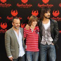 Javier Gutiérrez, Guillermo Campra y David Janer, de 'Águila Roja, la película'