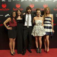 Inma Cuesta, Pepa Aniorte, David Janer, Miryam Gallego y Martina Klein posan en la premiére de 'Águila Roja, la película'