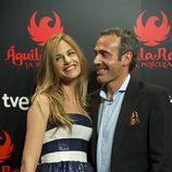 Martina Klein y Álex Corretja en la premiére de 'Águila Roja, la película'