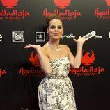 Miryam Gallego, feliz en la premiére de 'Águila Roja, la película'