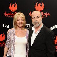 Antonio Resines y Belén Rueda en la premiére de 'Águila Roja, la película'