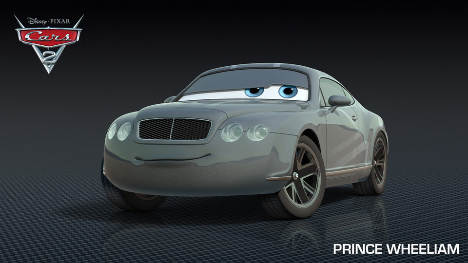 El príncipe Wheeliam, un amante de las carreras en 'Cars 2'