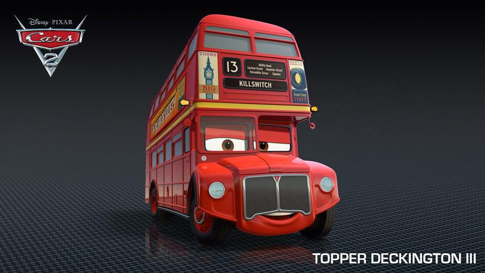 El mítico autobús rojo de Londres, en 'Cars 2'