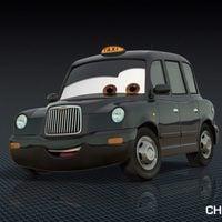 Típico taxi londinense, en 'Cars 2'
