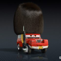La guardia británica, versión 'Cars 2'
