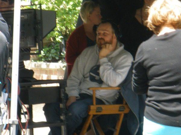 El director Marc Webb en el set de 'The amazing Spider-Man'
