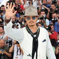 Johnny Depp en el photocall de 'Piratas del Caribe: En mareas misteriosas'