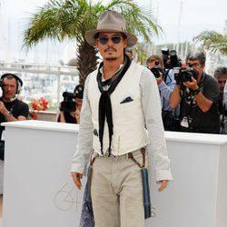 Johnny Depp en la presentación de 'Piratas del Caribe: En mareas misteriosas'