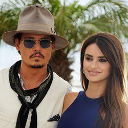 Johhny Depp y Penélope Cruz sonríen en la presentación de 'Piratas del Caribe: En mareas misteriosas'