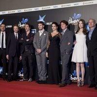El equipo de 'Piratas del Caribe: En mareas misteriosas', en la premiére de Madrid