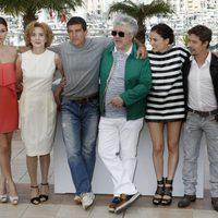 El equipo de 'La piel que habito' en el photocall de Cannes