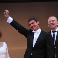 Antonio Banderas, feliz en la premiére de 'La piel que habito' en Cannes
