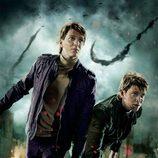 Banner de los gemelos Weasley de 'Harry Potter y las reliquias de la muerte: Parte 2'