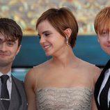 El trío protagonista de 'Harry Potter y las reliquias de la muerte: Parte 2'