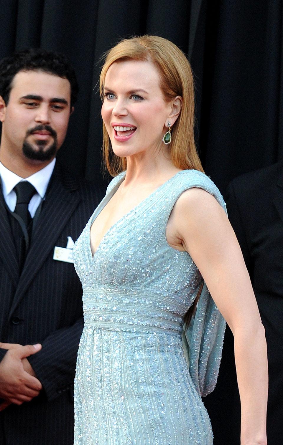 Nicole Kidman, muy feliz en lo BAFTA Brits
