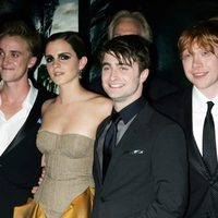 Tom Felton, Emma Watson, Daniel Radcliffe y Rupert Grint en Nueva York