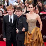 El trío protagonista de Harry Potter en Nueva York
