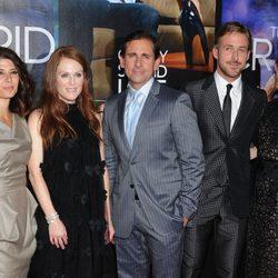 El elenco de 'Crazy, stupid love' en el estreno de la película en Nueva York