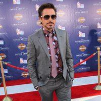 Robert Downey Jr. asistió a la premiére de 'Capitán América'