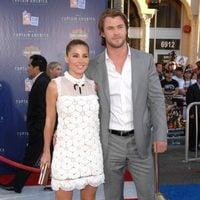 Chris Hemsworth y Elsa Pataky en la premiére de 'Capitán América'