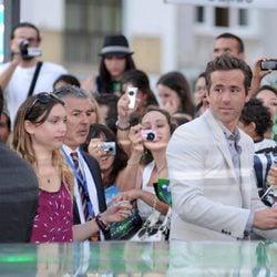 Ryan Reynolds junto al público madrileño de 'Green Lantern'
