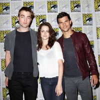 Robert Pattinson, Kristen Stewart y Taylor Lautner en la Comic-Con 2011