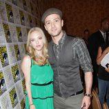 Amanda Seyfried y Justin Timberlake en la Comic-Con 2011