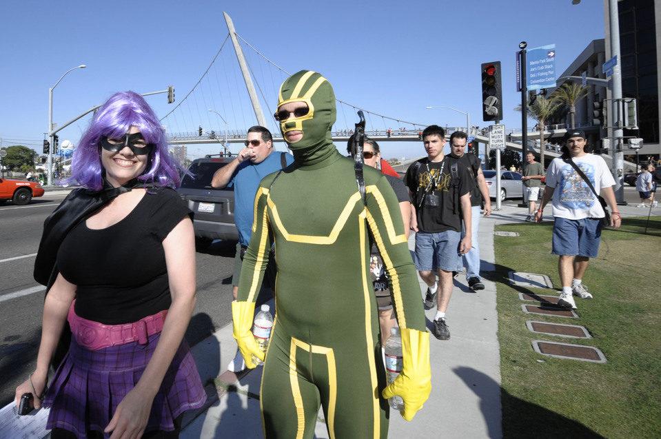 Cosplay de Kick-Ass y Hit Girl en la Comic-Con 2011
