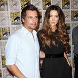 Kate Beckinsale y su marido Len Wiseman en la Comic-Con 2011